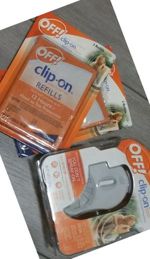 OFF Clip+On Mosquito Repellent Fan Circulated 12 Hr Protection refills for Sale in San Leandro, CA