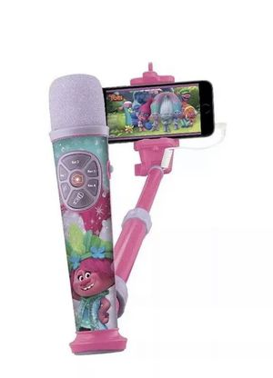 Trolls microphone working pink queen poppy for Sale in Miami, FL