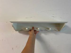 Wall Shelf with Hanging Pegs for Sale in Bellevue, WA