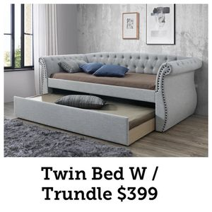 Day bed with trundle take it home with $39 down for Sale in Dallas, TX