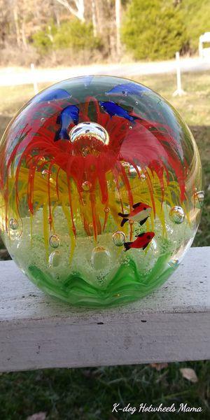 10 lb paperweight handmade blown glass original design for Sale in Nashville, TN