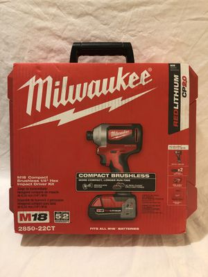 Brand new Milwaukee M18 brushless impact driver tool set, with hard case for Sale in Vacaville, CA