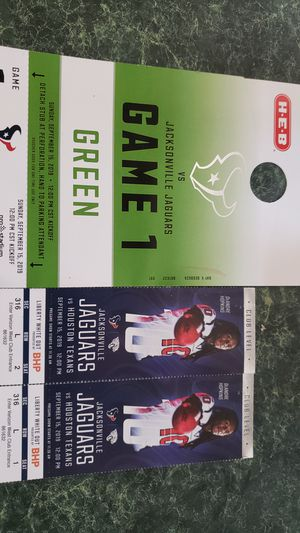 Texans tickets for today for Sale in Huffman, TX
