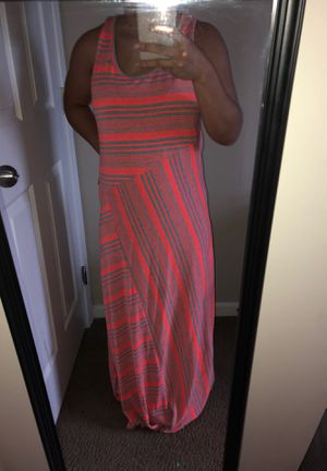 Neon orange & grey patterned dress for Sale in Columbus, OH