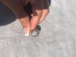 Men's gold diamond ring for Sale in El Cajon, CA
