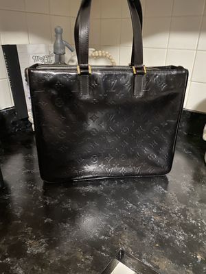 Authentic dyed Louis Vuitton vernis Colombus tote bag for Sale in New Bedford, MA
