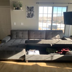 10 Feet Gray Couch for Sale in Denver, CO