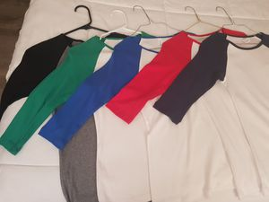 Baseball tees 3/4 length size small ...$5 each or 5 for $25 for Sale in Chicago, IL