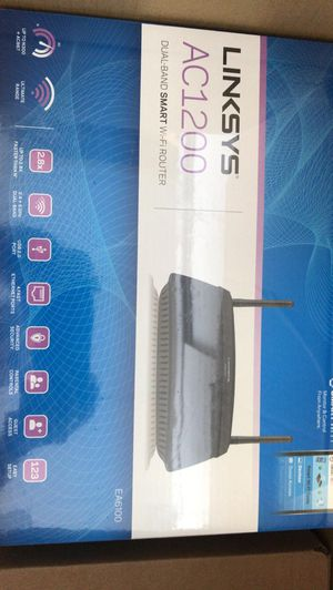 Linksys AC1200 Wi-Fi Wireless Dual-Band+ Router, Smart Wi-Fi App (EA6100) for Sale in Miami, FL