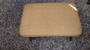Vintage Mid Century reupholstered Foot Stool with wooden tapered legs. Price $95. Located at Long Beach Antique Mall 2, signal Hill, Ca for Sale in Long Beach, CA
