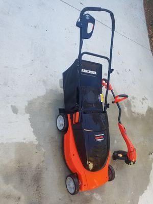 ELECTRIC Lawn mower Black & Decker and weeder for Sale in Anaheim, CA