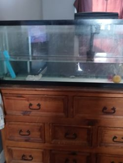 55 Gallon Fish Tank Comes With Pump Different Color Gravel And Filter for Sale in Indianapolis,  IN