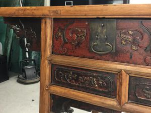 EXCEPTIONAL ANTIQUE CHINESE CALLIGRAPHY DESK/CONSOLE for Sale in Newport Beach, CA