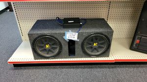 """Dual 12"""" KICKER subs with Amplifier and all Wires. for Sale in Scottsdale, AZ"""