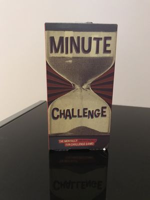 Minute Challenge Card Game for Sale in Harrisonburg, VA