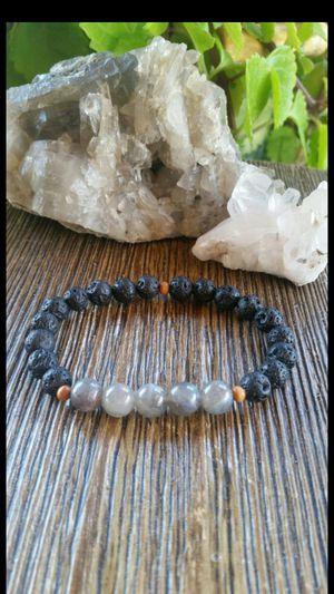 Lava stone and labradorite bracelet for Sale in Fontana, CA