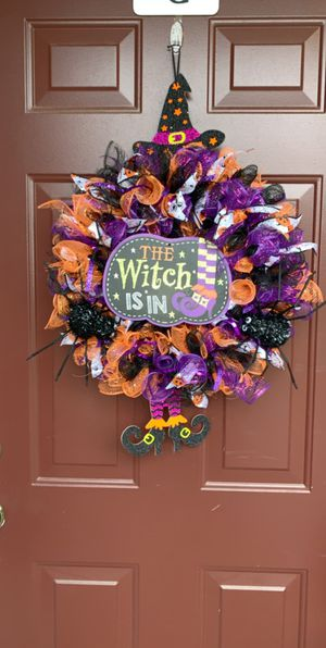 Handmade Halloween wreath for Sale in Eagle River, WI