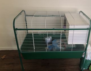 Green Rabbit Cage for Sale in St. Louis,  MO