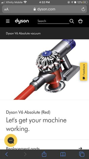 Dyson v6 absolute (red) cordless vacuum for Sale in Sanger, CA