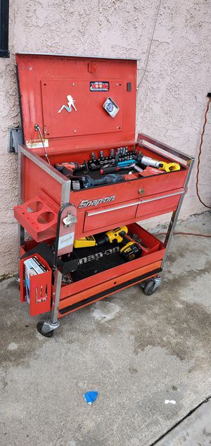 Snap on snapon snap-on tool cart toolbox tool box chest cabinet.. Cart only No tools include. for Sale in Rosemead, CA