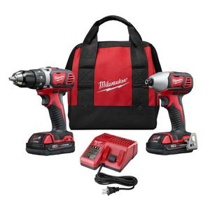 Milwaukee M18 18-Volt Lithium-Ion Cordless Drill Driver/Impact Driver Combo Kit (2-Tool) w/(2) 1.5Ah Batteries, Charger, Tool Bag for Sale in Stickney, IL