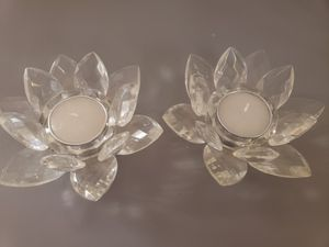Crystal lotus tealight holders candle for Sale in Fresno, CA