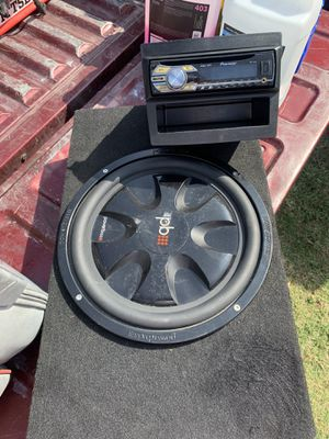 """Power bass 12"""" subwoofer with box and pioneer stereo with usb for Sale in Lakewood, CA"""