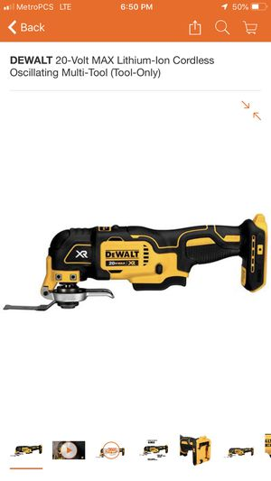 DEWALT 20 Volt MAX Lithium Ion cordless oscillating multi tool for Sale in Portland, OR