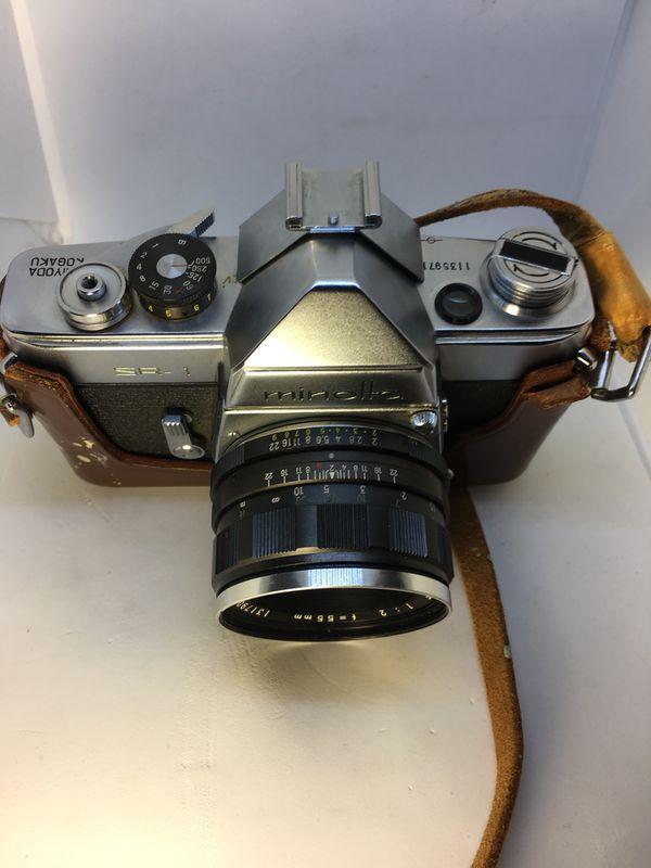 Minolta SR-1 film camera with auto rokkor 1:2 55m lens