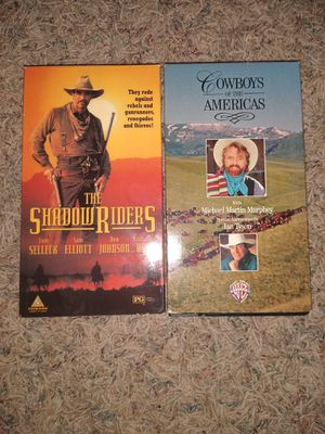 The shadow riders and Cowboys of the Americas VHS for Sale in Watford City, ND