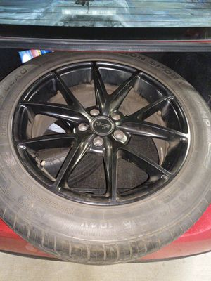 "Niche 18"" rims 4×4 tires hardly curb rash great condition comes with black lug nuts and two spacers $600 obo for Sale in Lincoln Acres, CA"