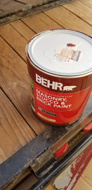 Behr masonry, stucco & brick paint (cherry cola) for Sale in Las Vegas, NV