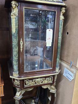 Antique French Cuio Cabinet 🌈 Another Time Around Furniture 2811 E. Bell Rd for Sale in Phoenix,  AZ