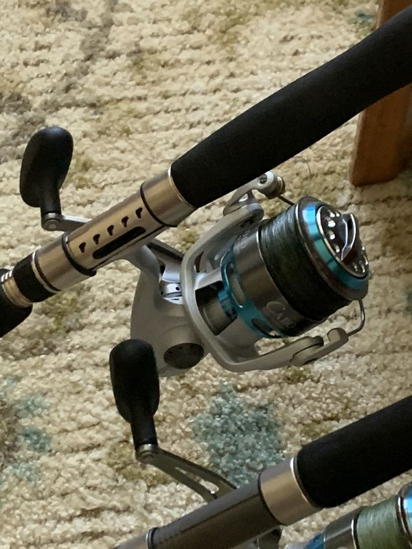 Shimano Terez fishing rods and Quantum Cabo reels