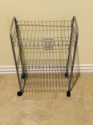 """Small metal rack with 3 shelves & casters 24"""" for Sale in Katy, TX"""