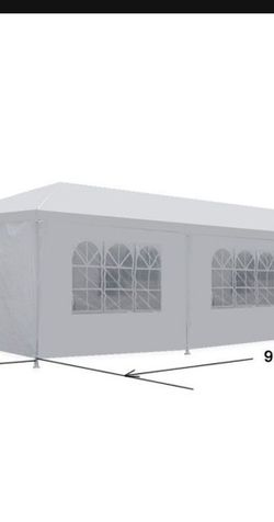 10'x 30' White Gazebo Wedding Party Tent Canopy With 6 Windows & 2 Sidewalls-8 for Sale in City of Industry,  CA