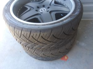 24 inch rims and tires ( 6 lugs ) Excellent Condition for Sale in Las Vegas, NV