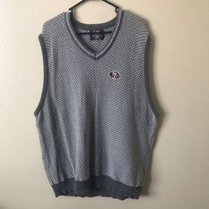 Men's SF 49ers Sweater Vest Gray XL for Sale in Gilroy, CA
