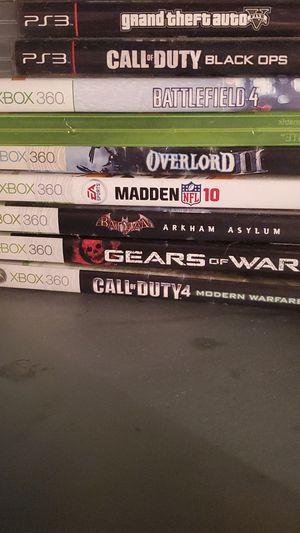 XBOX360 GAMES for Sale in Hemet, CA