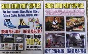 Sabor latino party supply for Sale in El Monte, CA