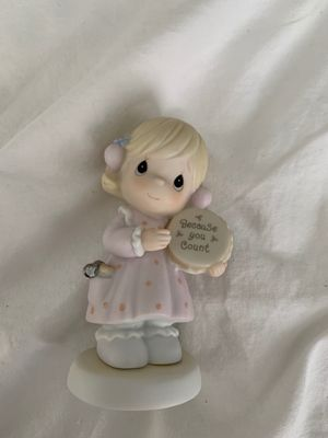 Precious Moments Porcelain Figurine: You Count for Sale in Tampa, FL