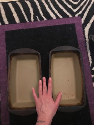 Pampered chef ceramic bread pans for Sale in Milton, PA