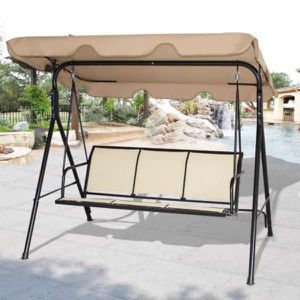 New in box $90 each 528 lbs capacity porch swing bench chair with canopy sun shade sun blocker for Sale in Covina, CA