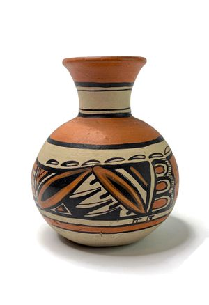 Vintage Acoma Polychrome Olla Vase Pottery signed J G for Sale in Santa Monica, CA