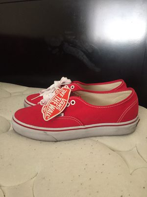Red vans worn 1x comes with box size 8.5 for Sale in Las Vegas, NV