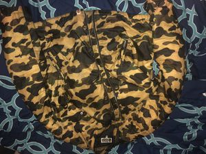 Men's bape biker jacket size Xl fits like L *NO TRADES* for Sale in The Bronx, NY
