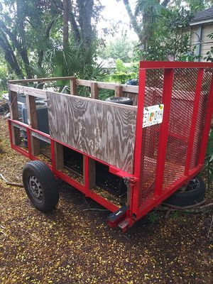 Trailer. With papers and caged ramp for Sale in Tampa, FL