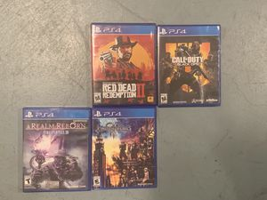 PS4 Games (Kingdom Hearts, Red Dead, Black Ops, Final Fantasy) for Sale in Portland, OR
