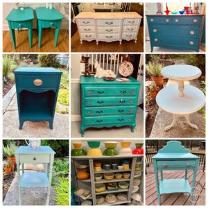 Uocycled home decor and refinished furniture sale for Sale in Kensington, MD