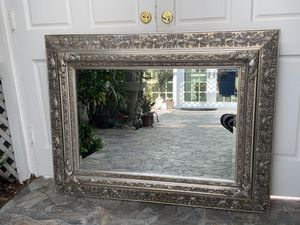 """50""""x39"""" double frame silver and have a little touch of gold mirror. This mirror has lots of detail and unique. Frame made of wood , very unique for Sale in Laguna Niguel, CA"""